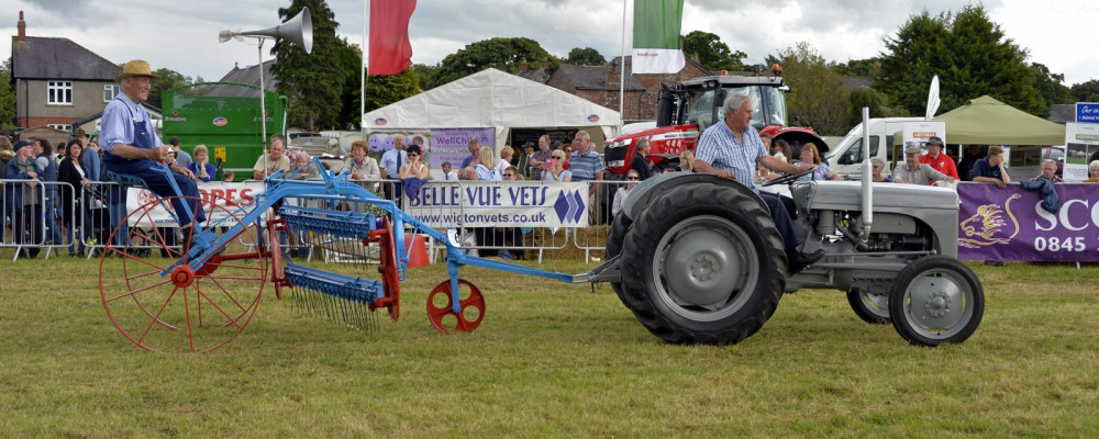 Old tractor and plough